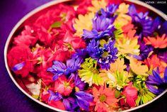 multicolor flower thali | courtesy Sapna Ahuja Photography | www.shaadibelles.com