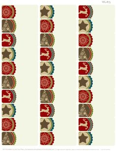 Christmas Address Labels: Free address label template with a Christmas rustic theme. PDF ready to print.