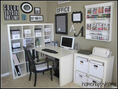 Office and Craft Room - I'm not even close to this.  Clearly I need to downsize a bit AND get more storage.