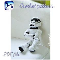Star Wars CROCHET PATTERN. Stormtrooper amigurumi toy by LaCigogne