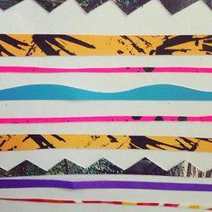Lustige Muster aus Resten #papercut #wip #annewenkel #illustration #onmydesk