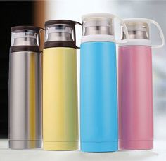 Fashion Stainless Steel Vacuum Thermos Flask Water Bottle Cup Travel Mug