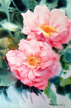 "Photo from album ""Pornsirikarn"" on Yandex. China Painting, Watercolour Painting, Watercolor Flowers, Vegetable Illustration, Rose Art, Flower Art, Sketches, Album, Drawings"