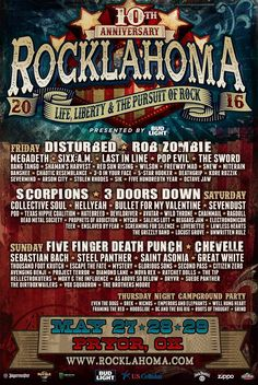 """I'm not going to Rocklahoma this year either: every year I feel this pull, like """"I should go"""", and I never do. Too far away from Vancouver, too many things to do at home, too much…"""
