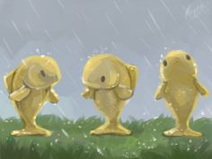 Terraria: Goldfish during rain >w<