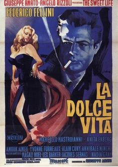 "La Dolce Vita.Great film. The word ""Paparazzi"" comes from a character in the film called Paparozzo who plays an unscrupulous photographer."