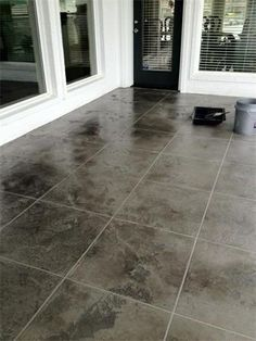 Decorative Patio Tiles Unique Decorative Concrete Tile Overlay Baldwin County Alabama  Foxcrete Review