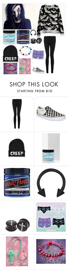"""""""For @ravenxsykessola"""" by katlanacross ❤ liked on Polyvore featuring WÃ¥ven, Vans and Manic Panic"""