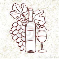 wine bottles, wine, grapes, grape leaves - Google Search