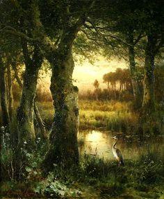 Edward Moran - Estuary at Twilight