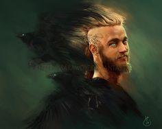 Ragnar Lothbrok by artist Sarawolf on deviant. Ragnar Lothbrok Vikings, Sons Of Ragnar, King Ragnar, Ragnar Lothbrook, Vikings Tv Series, Vikings Tv Show, Icelandic Sagas, Norse Legend, Viking Series