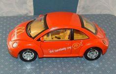 Vw Beetle Lot Of 3 Vehicles - Herbie Plush, Mcdonalds Die-cast, & M&m Tin