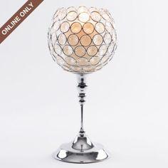 Clear Beaded Goblet Candle Holder #kirklands #glam+chic