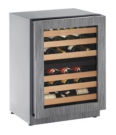 """U-Line 2000 Series 24"""" Wine Captain® Model (2224ZWC) holds up to 43 wine bottles (750 ml). The third and sixth racks are design to accommodate larger diameter wine and champagne bottles."""