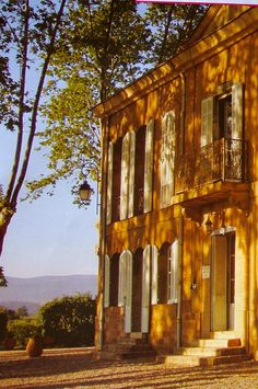 In Provence: the light is as thick and yellow as farm-fresh butter!