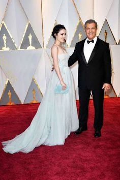 """2017 Oscars red carpet:     All the looks from the 2017 Oscars red carpet:     Mel Gibson attended the Oscars with girlfriend Rosalind Ross.  Gibson was nominated for best director for his film """"Hacksaw  Ridge."""""""