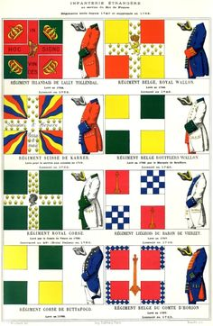 Mouillard - Infanterie étrangère former before 1763 Luis Xiv, Frederick The Great, France Flag, Seven Years' War, My War, Mystery Of History, French Empire, French Army, Toy Soldiers