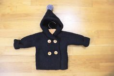 Baby boy knitted cardigan with written pattern