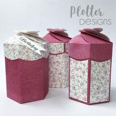 Plotterdatei Petal-Box von PlotterDesigns Cricut, Decorative Boxes, Container, Happy Birthday, Design, Paper, Binder, Goodies, Packaging