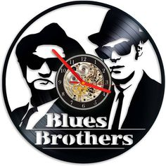 VINYL RECORD WALL CLOCK– BLUES BROTHERS - Were on a Mission from god  A trendy retro vinyl clock now in our shop! All made with attention and care. Lots of designs. A beautiful gift not only for eco – friendly people. These records were up for disposal, so they're receiving a new life as a clocks. The records are often old, each clock has a story. Those combination of recycled materials and high-quality finishes makes your wall exeptional! All records are made with passion, therefore they…