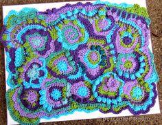 peaceofpi studio: Freeform Crochet Scrumble