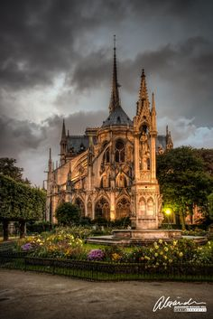 Notre Dame at night...beautiful!