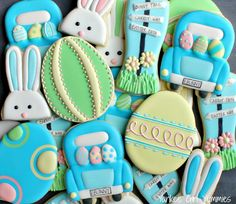 Easter bunny cookies. Yankee Girl Yummies