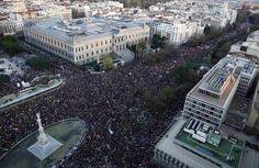 Impresionante vista aérea de la manifestación de Madrid #22M #22mMarchasPorLaDignidad