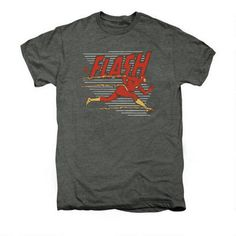 The Flash Speed Lines Adult Premium Platinum Heather T-shirt |