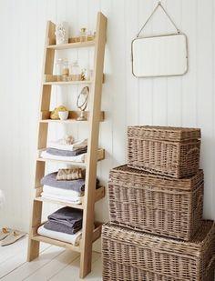 Storage bathroom. Like on a ladder...or a rope