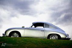 Silver Porsche 356 Coupe