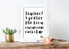 Teacher Educational Rockstar Printable Teacher Gift Quotes Print Poster Teacher Gifts Gift for Teacher Rockstar Instant Download Funny Print