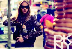 Punk Leopard #print DKNY Fall 2013 Ad Campaign I Cara Delevingne photographed by Mikael Jansson