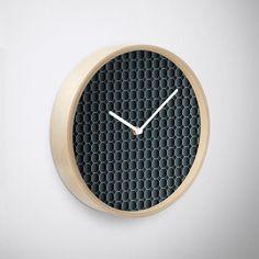 'Golden Honeycomb' Clock by Rizwana Khan Purple Marble, Quartz Clock Mechanism, Honeycomb, Lens, Art Prints, Wall Art, Metal, Frame, Art Impressions