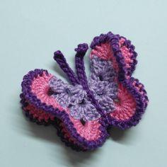 Make a Crocheted 3D Butterfly
