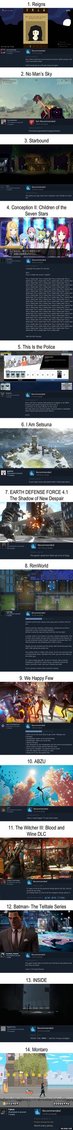 14 Funny Steam Reviews: Summer 2016 Games Edition