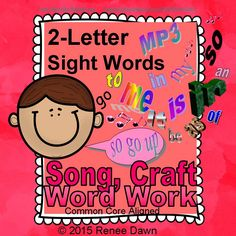 Give your kids the sight word repetition they need, and start with the easy words—2-letter sight words.  Includes 2-letter sight words in a melodic MP3 song, a heart-shaped sight words necklace craft, and word work.  The Sight Words Song features 21 words with a soothing lullaby sound and a soft beat.