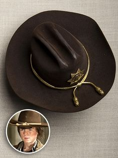 The Walking Dead | ''They don't make it anymore,'' says Womble of Rick's iconic hat, which he later gifted to Carl. ''Chandler Riggs' head i...