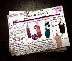 "Arrivage de la abaya ""officier"" version fille abaya pour fille, abaya for girl http://www.yesmineshop.com/26-univers-fille"