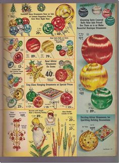 Lee Wards Christmas Catalog page, 1960's