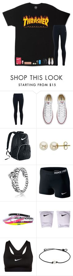 """""""&&; ootd + volleyball practice everyday after school this week"""" by strawberry-styles ❤ liked on Polyvore featuring NIKE, Converse, Lord & Taylor, Pandora, Under Armour, lululemon, Urban Decay and Victoria's Secret PINK"""