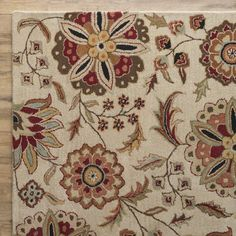 You'll love the Jasmine Parchment & Red Rug at Wayfair - Great Deals on all Rugs  products with Free Shipping on most stuff, even the big stuff.