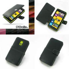 PDair Leather Case for Nokia Lumia 1320 - Book Type (Black)