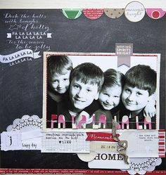 This layout by Becky Novacek used products from the Noel collection by Elle's Studio.