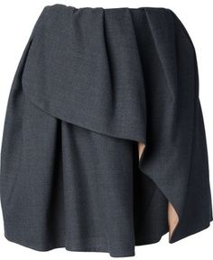 Carven pleated wrap skirt on shopstyle.com