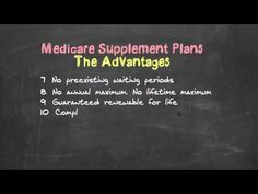 Medicare Supplements vs. Medicare Advantage - YouTube