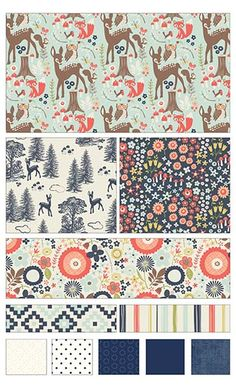 Woodland Spring fabric line by Design by Dani for Riley Blake Designs—Subscribe to our newsletter at http://www.rileyblakedesigns.com/newsletter/