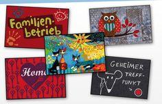 Online Shop für Fußmatten, Kinderteppiche, Schmutzfangmatten und Teppiche. Jetzt kaufen oder selbst gestalten und bedrucken lassen.