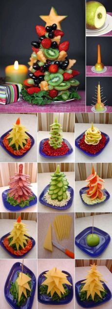 Fruit Decorations, Food Decoration, Christmas Decorations, Best Christmas Gifts, Christmas Holidays, Birthday Brunch, Party Desserts, Creative Food, Holiday Parties
