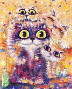 Котяры художника Бориса Касьянова (45 фото - 7,67.Mb) » Фото, рисунки